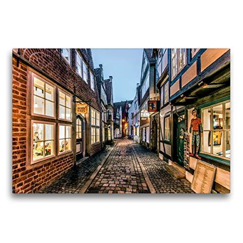 Premium Textil-Leinwand 75 x 50 cm Quer-Format Schnoor | Wandbild, HD-Bild auf Keilrahmen, Fertigbild auf hochwertigem Vlies, Leinwanddruck von Burkhard Körner