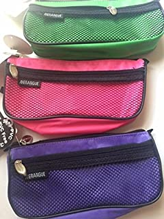 Merangue Carryall Pouch, assorted colors green, purple and pink