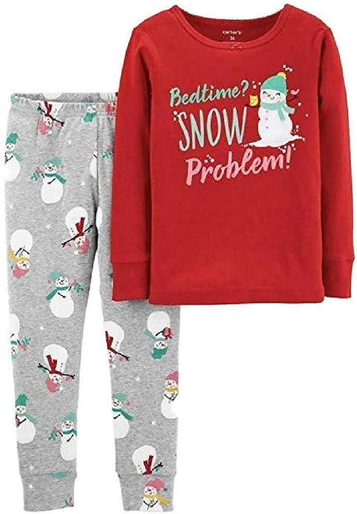 Carter's Girl Christmas Bedtime? Snow Problem Snug Fit Tops & Bottoms Pajama Set