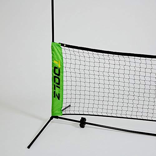 TOOLZ Tennisnetz 3m breit - Höhenverstellbar inkl. Tasche - Tennisnetz Kinder, Fußballtennis Netz, Badmintonnetz