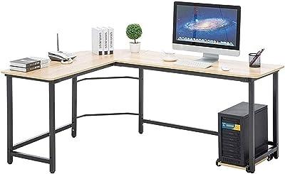 DERUKK-TY Bureau d'ordinateur moderne en forme de L - Bureau d'angle pour ordinateur - Station de travail - Économie d'espace - Facile à assembler