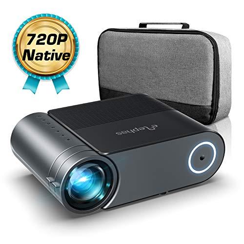 Proiettore,Elephas Videoproiettore Full HD 4500 Lumen da 50000 ore, Proiettore Home Theatrer 200 Pollici da 1080P Compatibile con Fire TV Stick, PS4, HDMI, VGA, USB(con borsa)