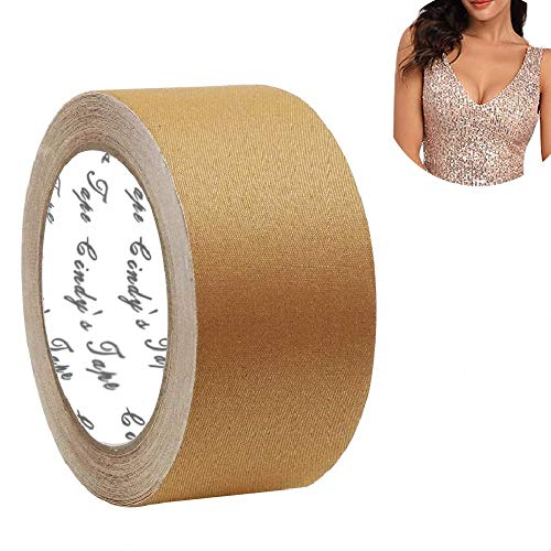 New Breast Lift Tape Nude Diy Breast Job for A-DD and E Cup Big Large Size,Chest supports tape,foot tape push up tape, Body Tape,Bra Tape,Foot Tape,Medical Grade and Waterproof. Kim K's Trick. Better than Gaffer tape (Unisex)