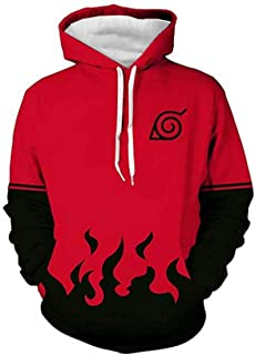 0aaa4159 CHENMA Men Naruto 3D Print Pullover Hoodie Sweatshirt with Front Pocket