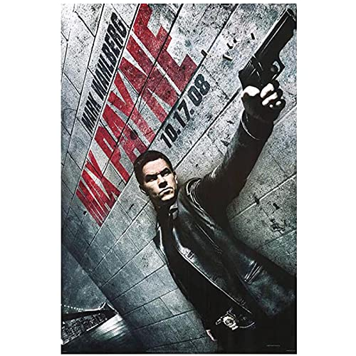 Carteles e impresiones de películas de Max Payne, pinturas en lienzo, imágenes artísticas de pared para la decoración del hogar del dormitorio, 50x70cm sin marco