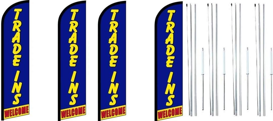 Trade Ins King Windless Feather Flag 2021 model Kit Complete Sign 35% OFF Hybr with