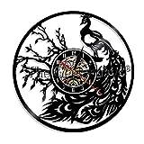 N/Y / Y 1 Pieza Reloj de Pared de Pavo Real Vintage Arte de