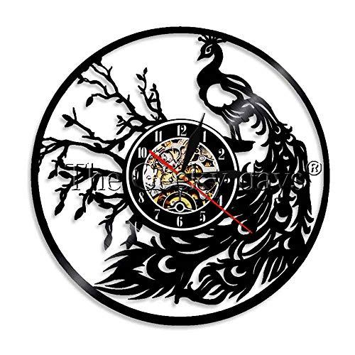 N/Y / Y 1 Pieza Reloj de Pared de Pavo Real Vintage Arte de Pared de Pavo Real Reloj de Cocina de Animales Amante de los Animales Regalo Hecho a Mano | Relojes de Pared | - AliExpress