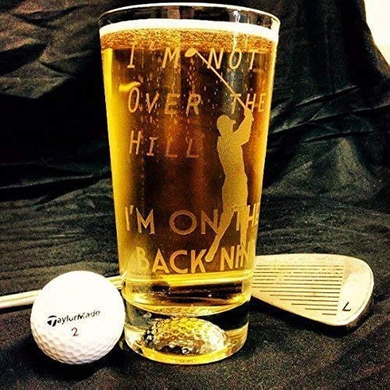 Golf Gift Gift For Golfer Golf Retirement Retirement Gift Over The Hill 50th Birthday Golf Shirt Boss Gift Retirement Gift Golf Beer Glass Golfer Gift