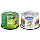 【セット買い】ビクター Victor 1回録画用 DVD-R CPRM 120分 50枚 ホワイトプリンタブル 片面1層 1-16倍速 VHR12JP50SJ1 & バーベイタムジャパン(Verbatim Japan) 1回録画用 DVD-R CPRM 120分 50枚 ホワイトプリンタブル 片面1層 1-16倍速 VHR12JP50V4