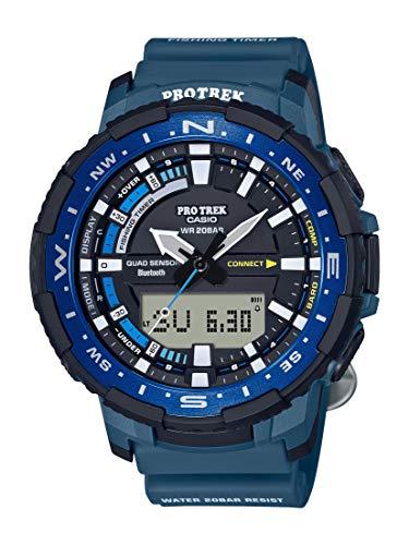 Casio Men's Pro Trek Quartz Sport Watch with Resin Strap, Blue, 22.5 (Model: PRT-B70-2CR)