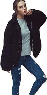 YANG-YI Womens Coat Casual Lapel Fleece Fuzzy Faux Shearling Coat Winter Oversized Fluffy Jackets