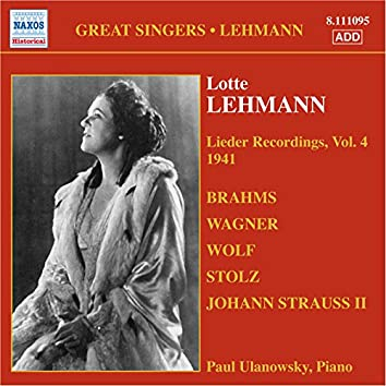 Lehmann, Lotte: Lieder Recordings, Vol. 4 (1941)