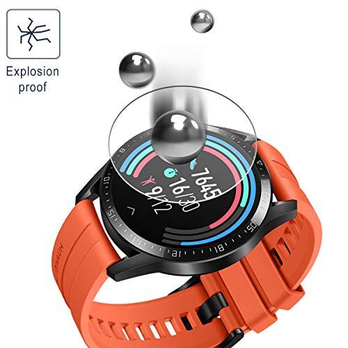 SPGUARD Schutzfolie Kompatibel mit Huawei Watch GT 2 46mm Schutzfolie [3 Stück] für Huawei Watch GT 2 46mm Panzerglas [2.5D 9H Härte] [Blasenfrei] - 5