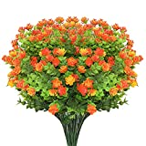 Boic Flores Artificiales Exterior, 10 pcs Resistente a los Rayos UV Flores Falsas Plástico Realista para el Hogar...