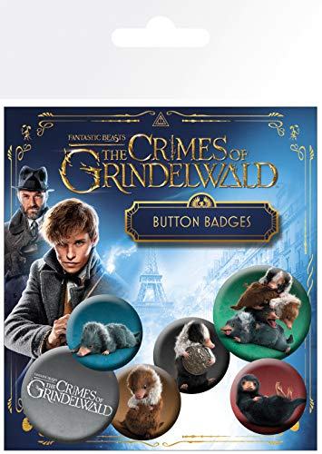 Fantastic Beasts 2 Button Set Nifflers