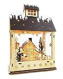 Wichtelstube-Kollektion LED Weihnachtsdeko Holz beleuchtet mit Timer Haus Weihnachten Winterkinder Haus im Haus Weihnachtshaus