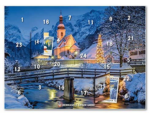 Hermann E. Sieger GmbH Adventskalender 2020 | Briefmarken | jeden Tag eine andere Marke | Weihnachten in Ramsau