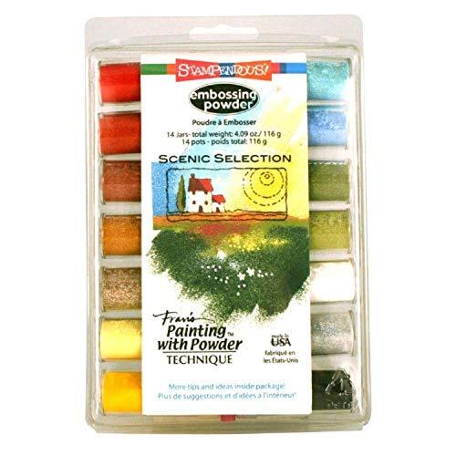 Stampendous Scenic Selection - Kit de Polvos para Estarcido (14 Unidades), Multicolor