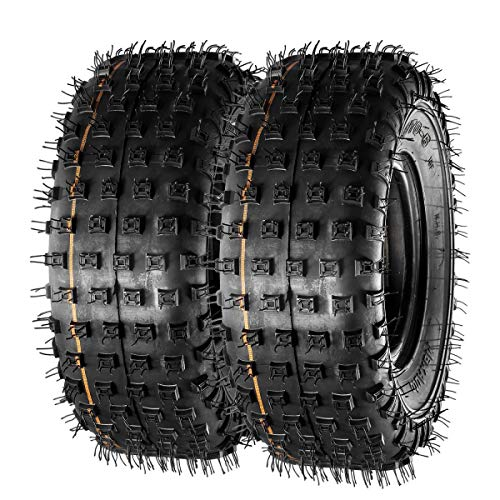 MaxAuto 145/70-6 145 70-6 Tires Mini Bike Go-Kart Knobby Tires Sport ATV UTV Tires, 4PR, Tubeless, Set of 2