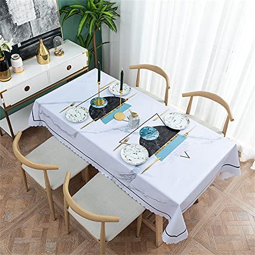 Impresión De Patrón Geométrico Amarillo Impermeable, A Prueba De Aceite Y Antiincrustante Mantel Rectangular Restaurante Mesa De Centro Cuadrada Mantel para Decoración De Jardín De Cocina 120x170cm
