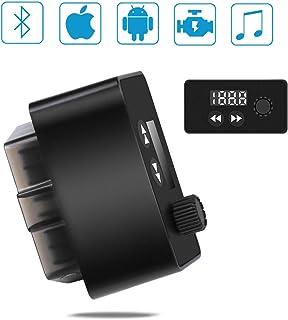 Wimaha Escáner Bluetooth OBD2 Lector OBDII Escáner de diagnóstico del Coche Autoverificación Falla del Motor del Coche Herramienta del escáner Bluetooth con Reproductor de MP3 Tarjeta TF