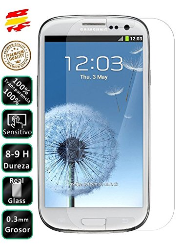 Movilrey Protector para Samsung Galaxy S3 Neo i9301 Cristal Templado de Pantalla Vidrio 9H para movil