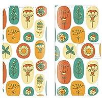 Redmi Note 9T 対応 スマホケース 全機種対応 手帳型 花 花柄 北欧 植物 グリーン 柄 柄物 模様 おしゃれ 人気 オレンジ スマートフォン ケース