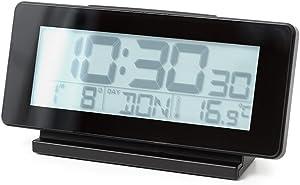 Balvi-RéveilnumériqueMultifonctioniTime.GrandécranLCD,thermomètreetCalendrier.Couleur:Noir.