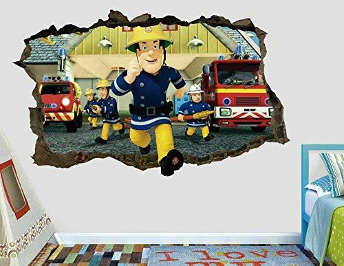 Pegatinas de pared Calcomanías de pared de bombero pegatinas mural decoración del hogar para el arte del dormitorio AH46080*120CM