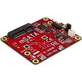 StarTech.com PIB2MS1 - Adaptador conversor USB a mSATA para Raspberry Pi y Placas de Desarrollo - USB a Mini SATA, Color Rojo
