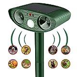 QUTAII Solar Cat Repellent, Ultrasonic Pest Repeller Ultrasonic Animal Repeller Solar Ultrasonic Sound