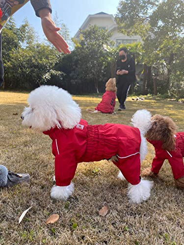 Lovelonglong Dogs Waterproof Jacket, Lightweight Waterproof Jacket Reflective Safety Dog Raincoat...