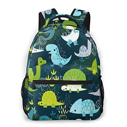 OREZI Fashion Backpack for Girls Boys Cute Dinosaur Print Cute School Bag Bookbag Daypack