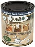 Saman 160-031-1L Vernis satiné à base d'eau pour intérieur avec oxyde d'aluminium 1 litre, 160-031-1L