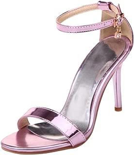 COOLCEPT Women Simple Ankle Strap Heels Sandals
