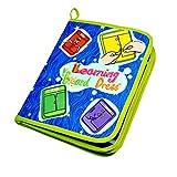 Aprendizaje básico de habilidades básicas para la vida, juguetes, libro silencioso, Montessori, aprende a usar tableros, cremallera, broche, botón, hebilla, cordón y corbata, juguetes educativos para bebés, niños pequeños