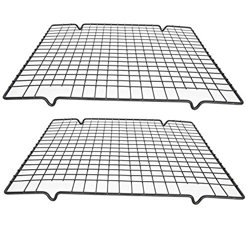 Cooling Racks for Baking,Non Stick Baking Cooling Rack,Stainless Steel Cooling Rack/Baking Rack,Small Grid Perfect To Cool and Bake 10 x 11 inch(2 Pcs)