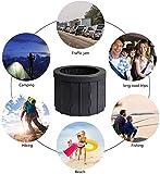 Plegable WC portátil, con 12 Limpieza Bolsas, fácil de Llevar, Lavable, Resistente, multifunción, Aseo para Camping, excursiones, Viajes Largos, Embotellamiento, Ancianos,C