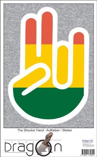 THE SHOCKER HAND - Wandtattoo / Wandaufkleber/ Aufkleber - weißer Umriss mit Fahne / Flagge - Bolivia-Bolivien 100 cm