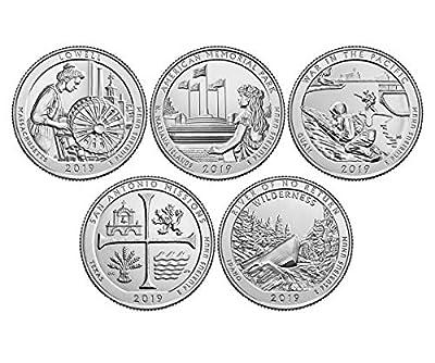 2019 P, D BU National Park Quarter 10 Coin Set Uncirculated