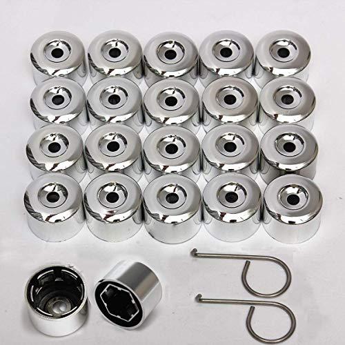 BLTR Elegante y Duradero 20 unids/Set 17mm de aleación de la aleación de la Nuez de la Nuez de Las Tuercas Cubre Tapas Fácil de Instalar