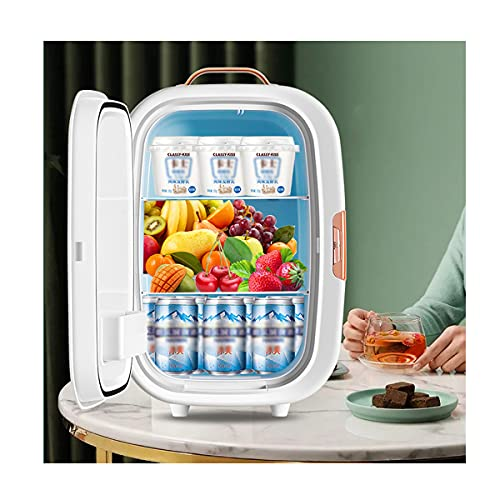 Mini Refrigerador De Bebidas, Congelador Portátil De 10 L, Refrigerador Eléctrico, Refrigerador para El Cuidado De La Piel con CA/CC - Refrigerador De Refrigeración/Calefacción,A-10L