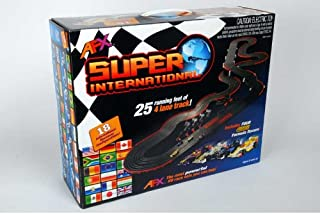 HO 4-Lane Super International Race Car Set HO AFX