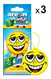 AREON Smile Deodorante Auto Fresh Air da Appendere Specchietto Retrovisore Divertenti Set 3