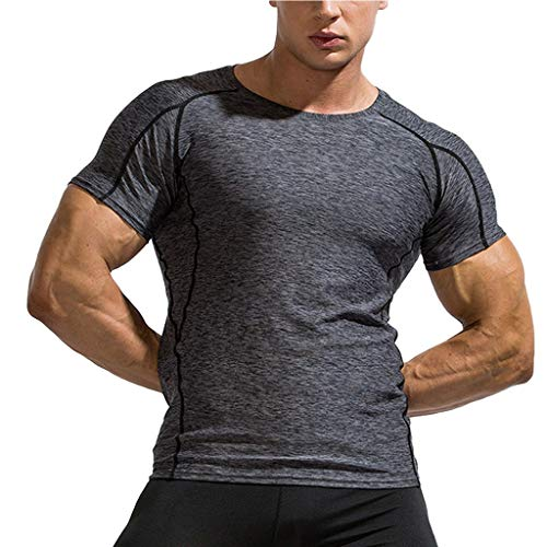 LANSKIRT_Camisas Hombre Manga Corta Deportiva Tops Transpirable Camisas Casual Básica Camisetas de Tirantes Ropa Hombres Marca Outlet Ofertas Primavera Verano Talla Grande S-XXXL