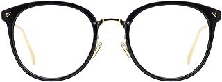 7eb4da12b23 TIJN Women Retro TR90 Metal Round Glasses Frame Optical Rx-able Eyeglasses -Maaike