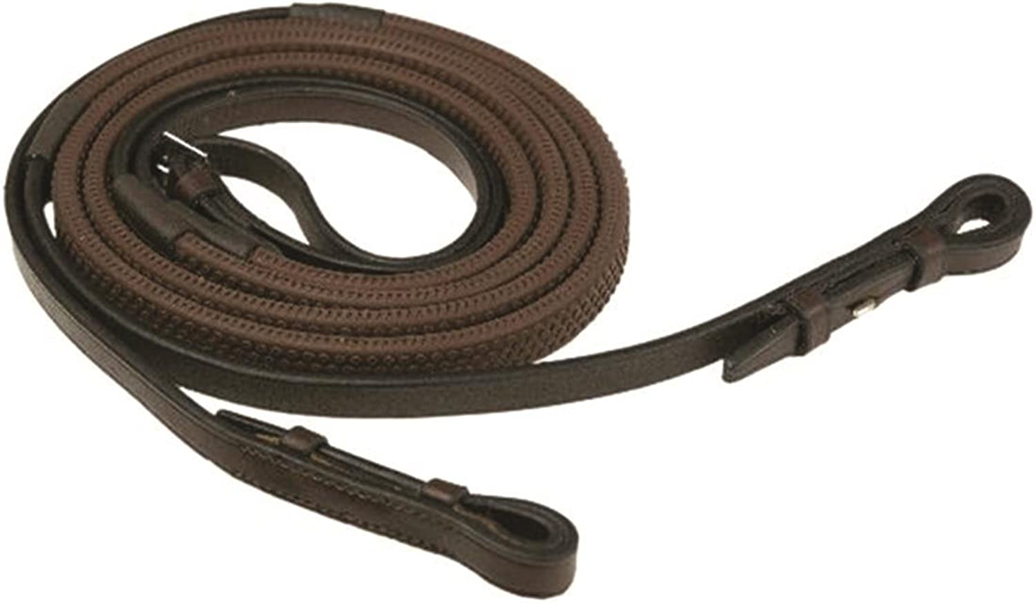 GATSBY LEATHER COMPANY 283231 Rubber Grip Reins Havanna Brown, 5 8