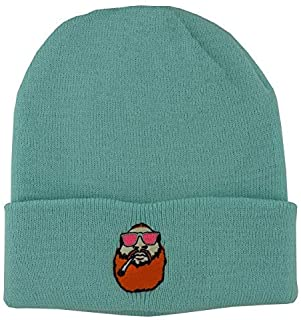 Actual Fact Run The Jewels Hip Hop Roll Up Bobble Pom Pom Burgandy Beanie Hat