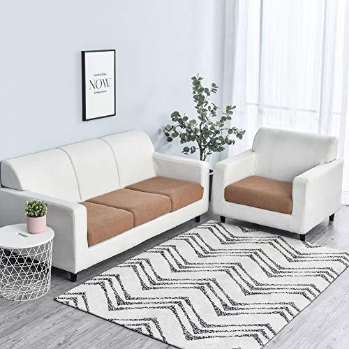 Felpa Funda para Asientos De Sofá Protector,3 Piezas Sofá Couch Slipcover,Elasticidad Resistente Fundas para Cojines,Lavable Protector DE Muebles